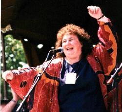 Jacey Bedford. Memeber of Artisan a cappella trio.
